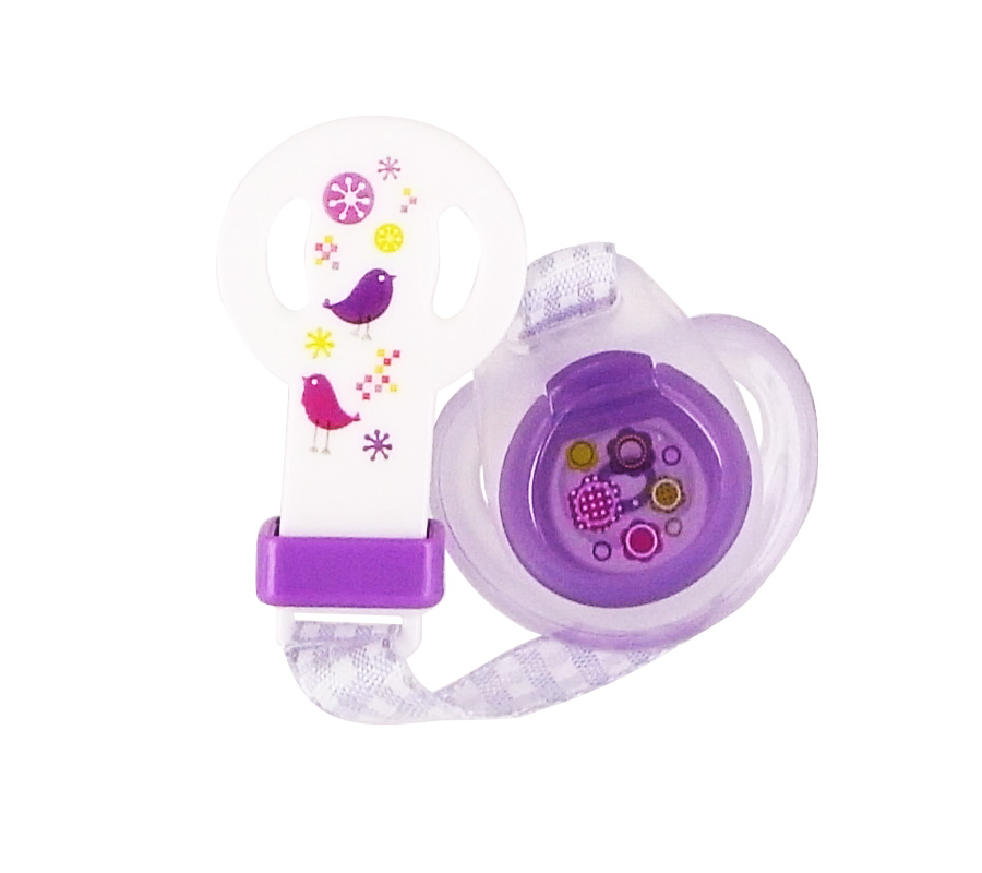 PACK OF 1 SOOTHER + 1 « GINGHAM » ATTACH-SOOTHER