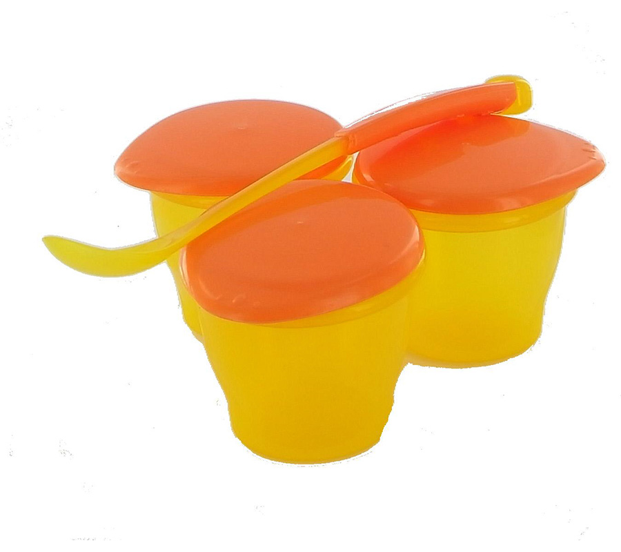 SET OF 3 SMALL JARS AND SPOON