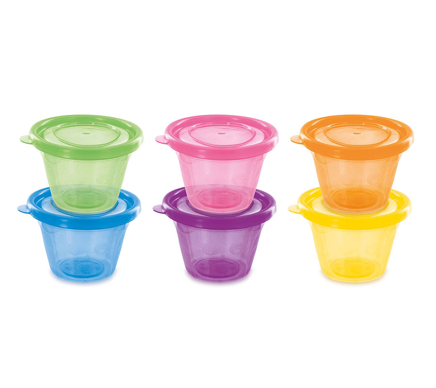 SET OF 6 SMALL JARS WITH LID