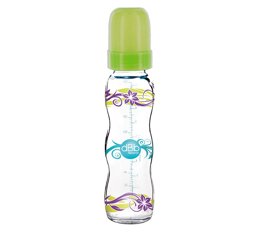 """AIR CONTROL"" FEEDING BOTTLE 290 ML, ""FLORALIES"" DECOR, SILICONE VARI-TEAT"